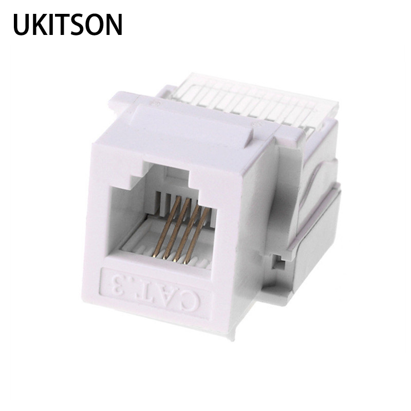 keystone connector cat3 rj11 telephone plug 4 wires socket. Black Bedroom Furniture Sets. Home Design Ideas
