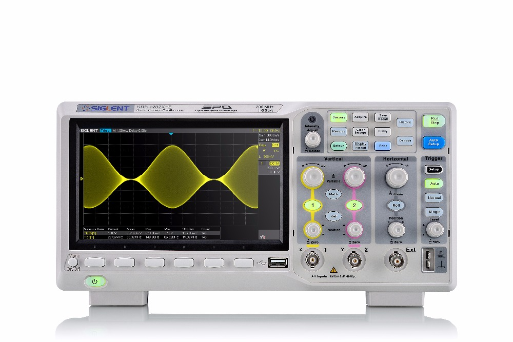 NEW Siglent SDS1202X-E 200Mhz FREE serial decoder 2 channels benchtop/desktop digital oscilloscope DPO color scope, 1G,Free Ship  осциллограф siglent sds1152cml 2 150 1 sa