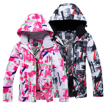 Winter Ski Jacket Women's Waterproof Outdoor Sports Men's Snowboard Clip Warm Windproof Snow Skiing Suit gsou snow brand ski jacket men snowboard jacket waterproof fur hooded outdoor skiing suit windproof sport clothing winter coat