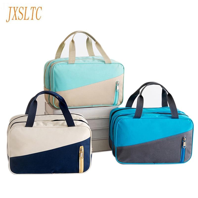 JXSLTC Oxford Cloth Waterproof Organizer Traveling Bags Beach Swimmer Ladies Handbag Large Capacity Wet Dry Separator Travel Bag
