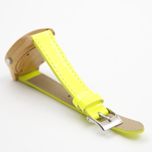 Lemon Color Wooden Watches For Women