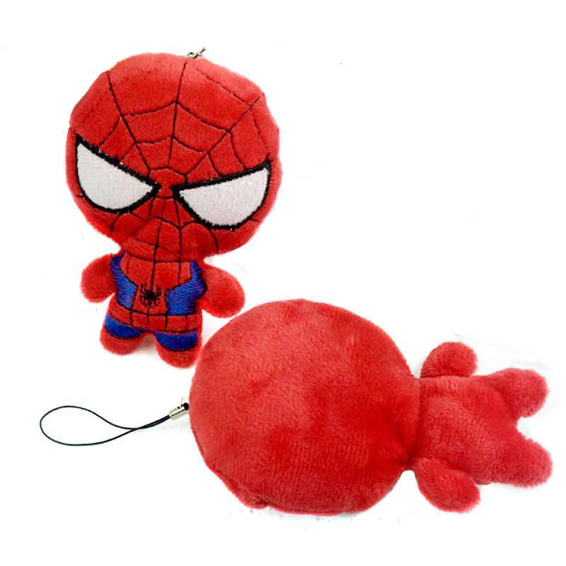10 см плюшевая мягкая игрушка; подарок, подвеска, Декор, плюшевые игрушки, аксессуары, игрушки, Детский плюшевый декор, Человек-паук, мягкие игрушки I0107