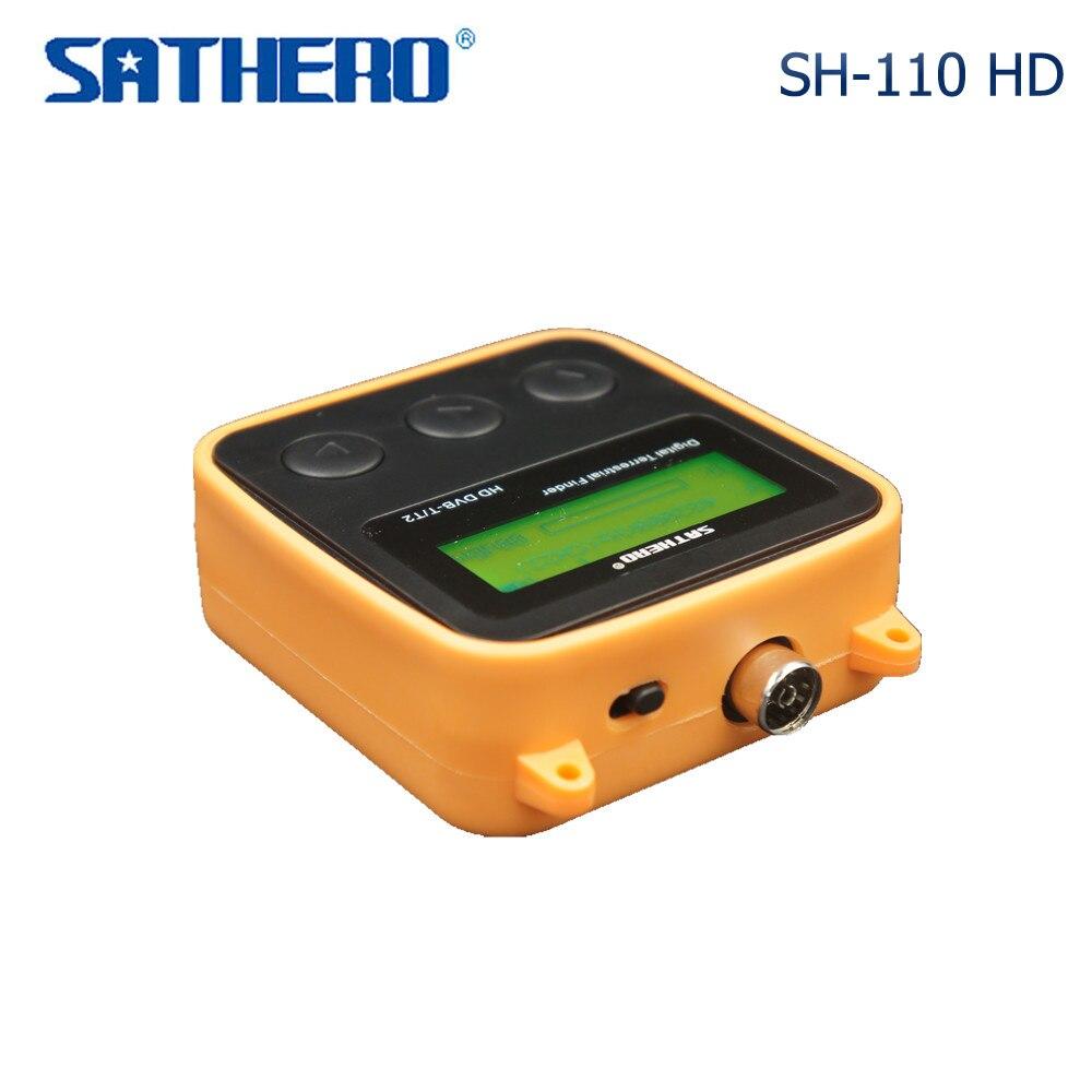 SATHERO SH 110HD Satellite Finder DVB T/T2 Digital Sat Finder HD Signal Finder LCD Display USB2.0 SH 110 Satellite Meter