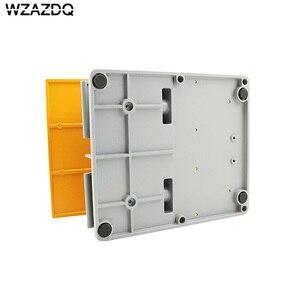 Image 4 - WZAZDQ Ayak anahtarı YDT1 15 alüminyum kabuk gri çift pedal anahtarı makinesi aracı aksesuarları anahtarı