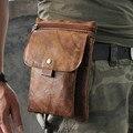 Venda quente de Alta Qualidade Genuína Do Couro De Couro Real dos homens Saco do Mensageiro do vintage Bolsa Saco Pacote de Cintura