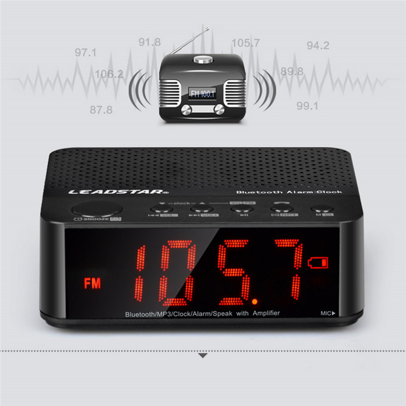 LEADSTAR MX 19 Bluetooth Speaker Portable MP3 Player Alarm Clock FM Radio  Music USB for Bedroom Housewear Accessory in Speakers from Consumer  Electronics on. LEADSTAR MX 19 Bluetooth Speaker Portable MP3 Player Alarm Clock