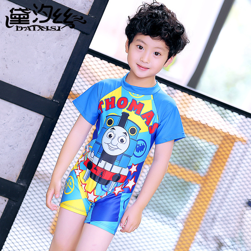 Rhyme Lady new style boys one piece beachwear 2017 new children swimwear Kids cartoon Bathing Suits spider man style surfing clothes for 3 10y little boys kids one piece beachwear swimwear high quality children clothing