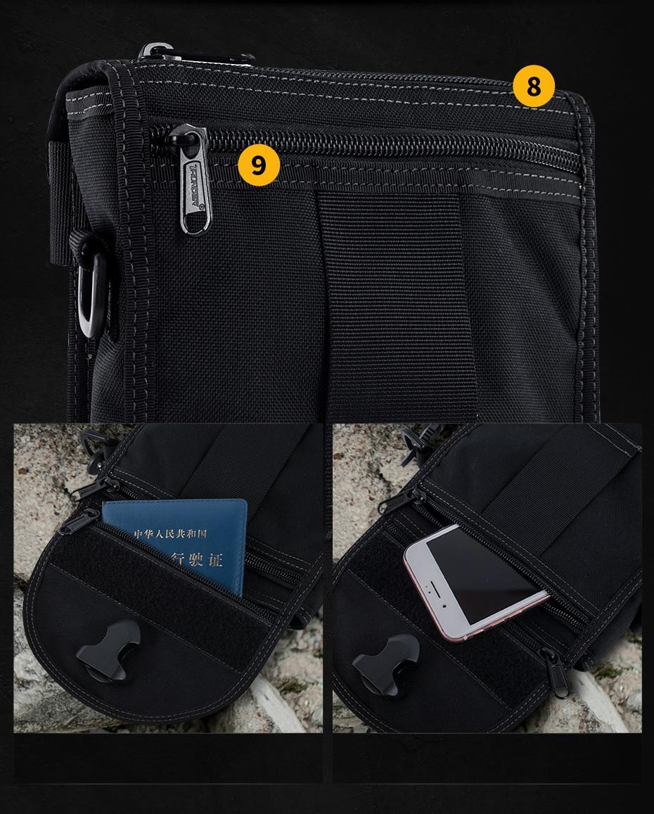 Sector Seven Mens 1000d Nylon Casual Briefcase Solid Men Tactical Handbags Mother & Kids