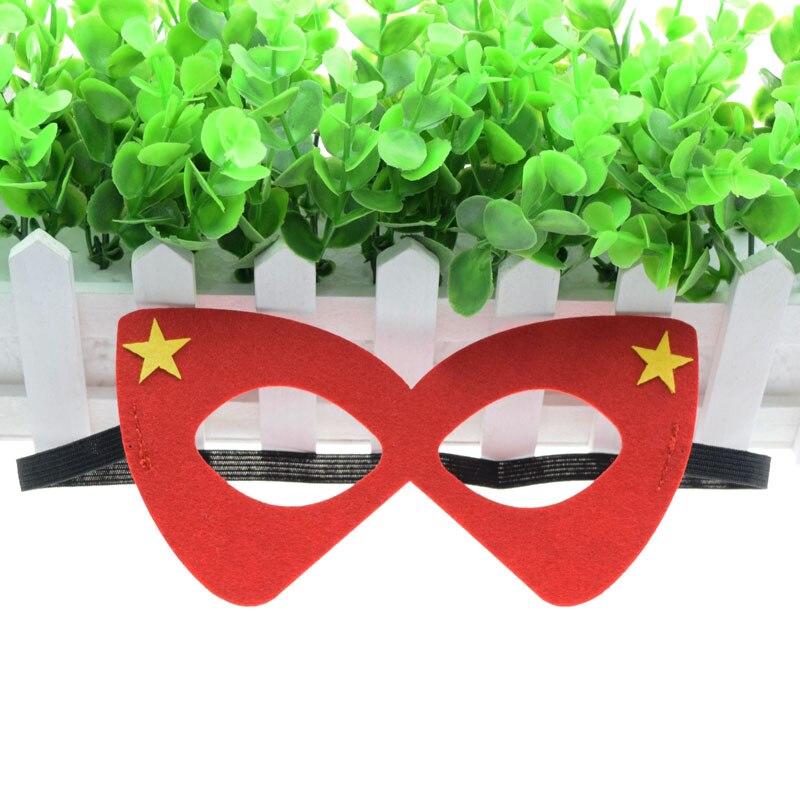 Máscara Óculos Vermelhos Super Herói Estrela Hulk Avengers Thor Máscara Crianças Da Menina do Menino Traje Star Wars Xmas DIY Masquerade Eye máscara de Cosplay