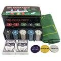 200 Peças Chips Set-Conjunto de Fichas de Poker-Cortinas de Pano de Mesa de Blackjack Dealer-Cartas De Poker-Com Presentes-Poker