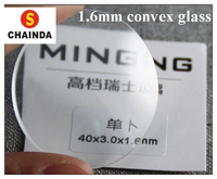 High Quality! Assortment of 1.6mm Thick Single Dome Convex Transparent Round Mineral Glass for Watch Repair