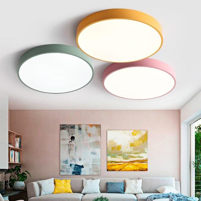 2019-tiempo limitado oferta especial venta Ce Abajur Ultra-delgada de techo Led lámparas de iluminación para la sala moderno alto 6 cm