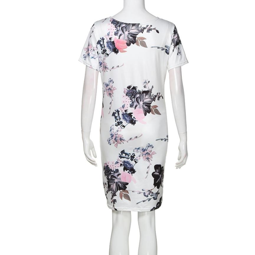 Womens Mother Casual Floral Pregnants Dress For Maternity Clothes 5.27