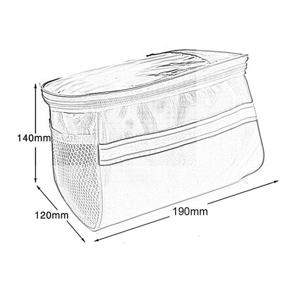 Купить с кэшбэком 20 Inch Large Capacity Polyester Bike Bicycle Front Basket Durable Waterproof Tube Handlebar Bag Outdoor Sport Accessories