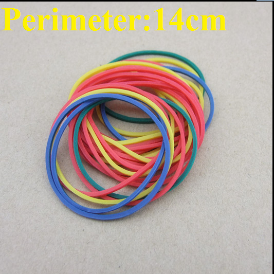 10pcs/lot 14cm Perimeter Rubber Band DIY Toy Drive Belt Parts Colorful Free Shipping Russia