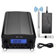 1/комплект 1 Вт/7 Вт fm-передатчик радиостанции аудио конвертер с разъемом TNC Встроенная частота PLL+ маленькая антенна