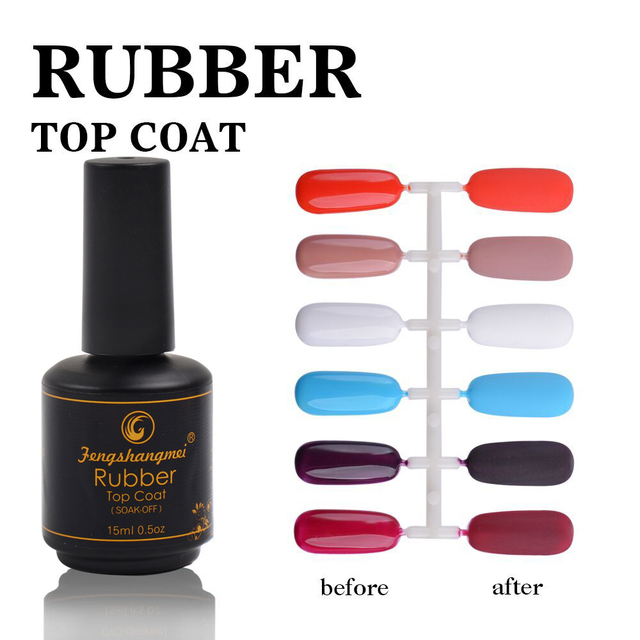Fengshangmei Matt Rubber Top Coat for Gel Polish UV Neon Matte Nail ...