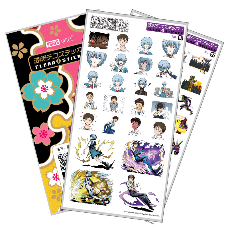 Classic Anime Evangelion EVA Luxury Stickers For Mobile Phone Laptop Book Plastic Transparent Decal Toy Sticker