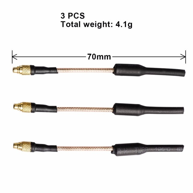 AKK 3pcs 5.8GHz 2.15dBI MMCX FPV Brass Dipole Antenna