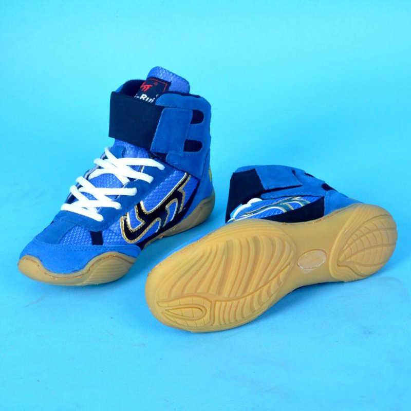 Hotsale Worstelen Schoenen Luipaard Boksen Schoenen Volwassen Kinderen Training Sneaker Professionele Grappling Punch Bag Sport Boksen Schoenen