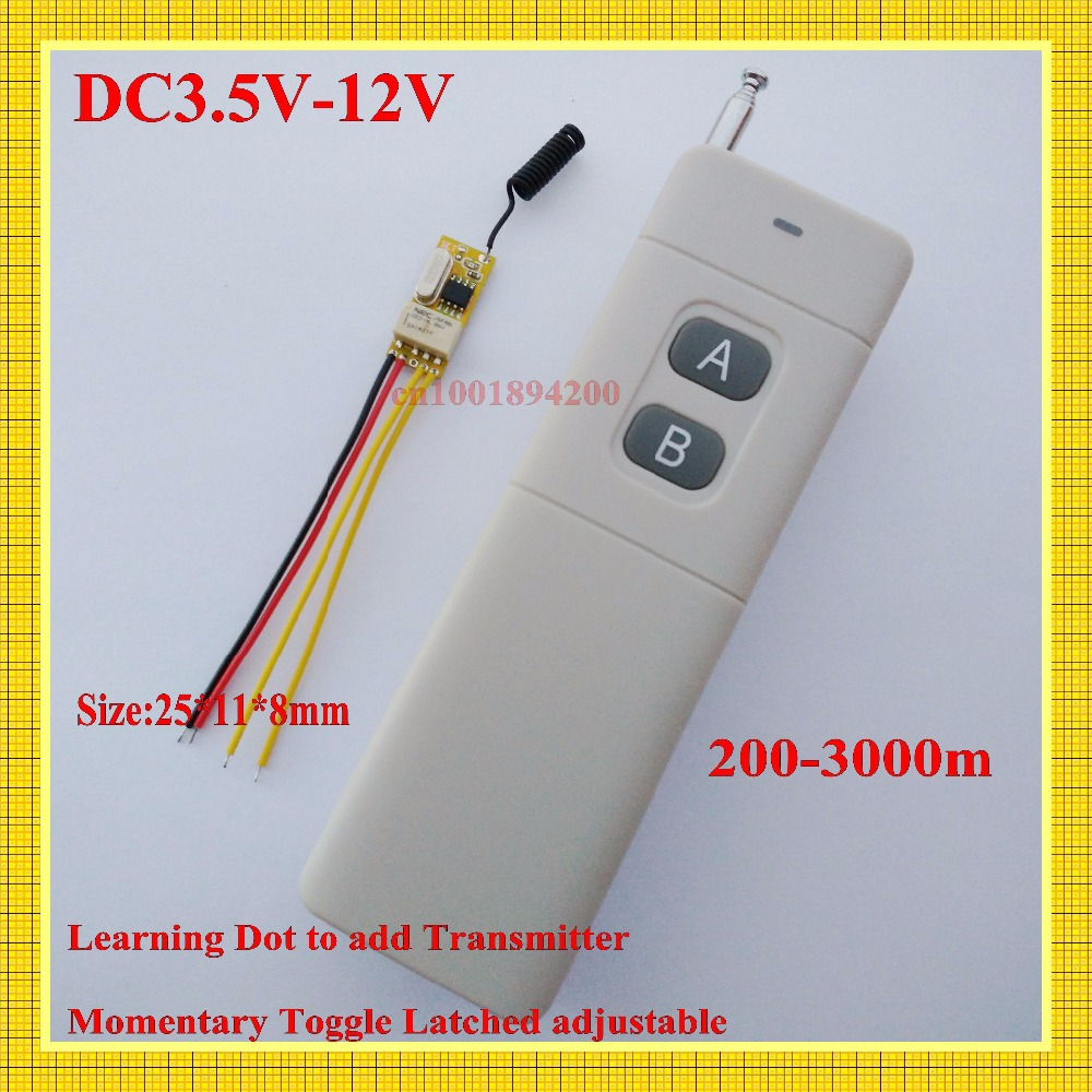 Small Volume Relay Receiver DC 3.6V 3.7V 4.8V 5V 6V 7.4V 9V 12V Mini Remote Control Switch Micro Power ON OFF Remote NO COM NC atsuko asano no 6 volume 5