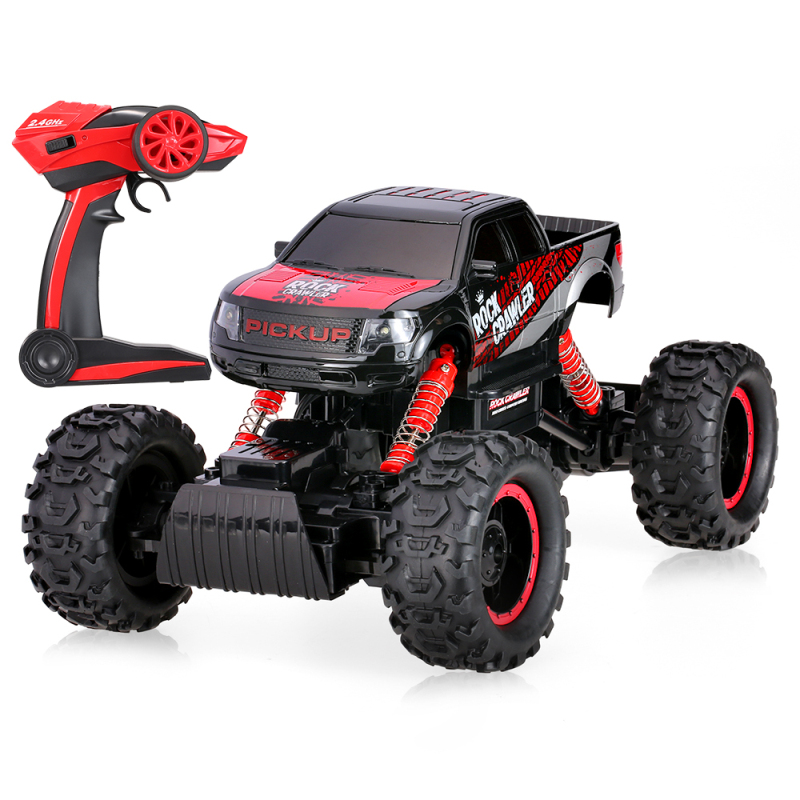New remote control Rock Crawler car 1:14 scale 2.4G 2CH rc electric toy climbing truck Off-road RC Car with LED Light remote control 1 32 detachable rc trailer truck toy with light and sounds car