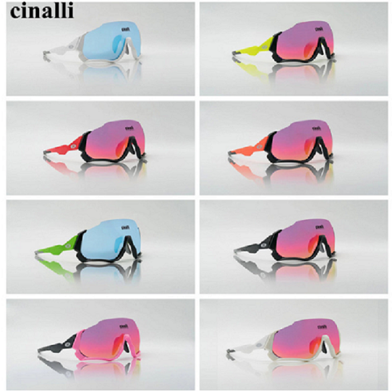 088 Sunglasses Eyewear Cycling Racing Outdoor Polarized Len CINALLI Tr90-Frame for Rider title=