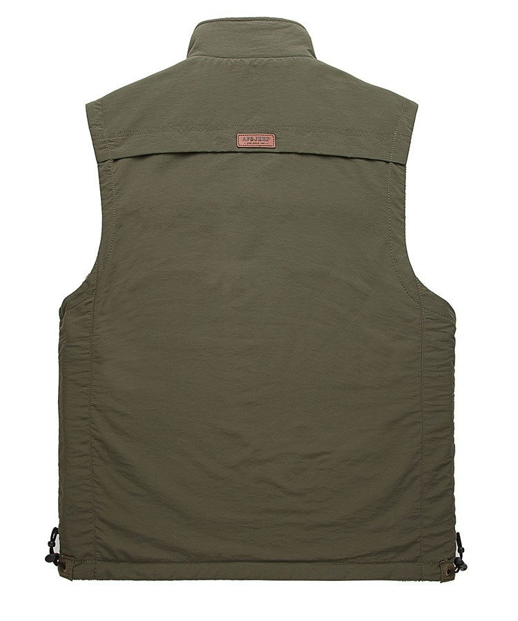 2015 Autumn Spring Casual Men Vest Coat Fleece AFS JEEP Cotton Multi Pocket 4XL Cargo Outdoor Sleeveless Jackets Waistcoat Vests (11)