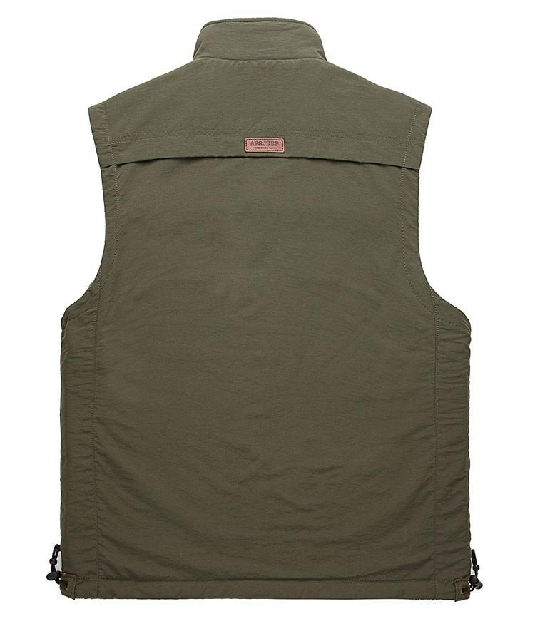 2015 Autumn Spring Casual Men Vest Coat Fleece AFS JEEP Cotton Multi Pocket 4XL Cargo Outdoor Sleeveless Jackets Waistcoat Vests (11)