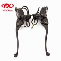 FX Aluminum 7 8 Master Cylinder ATV Dirt Pit Bike Motorcycle Brake Clutch Lever For 50CC
