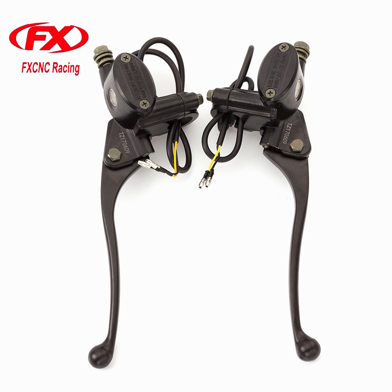 FX Aluminum 7/8 Master Cylinder ATV Dirt Pit Bike Motorcycle Brake Clutch Lever For 50CC-200CC Hydraulic Brake Clutch Levers