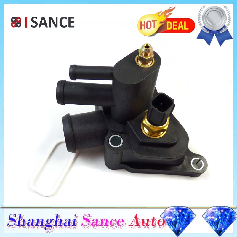 Isance Thermostat Housing Coolant Air Bleeder Aa For Chrysler Sebring Dodge Stratus V on 2002 Chrysler Sebring Thermostat Housing