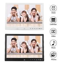 13 ''Портативный 1080 P HD цифровые фото настенные часы киноплеер альбом с пультом дистанционного управления