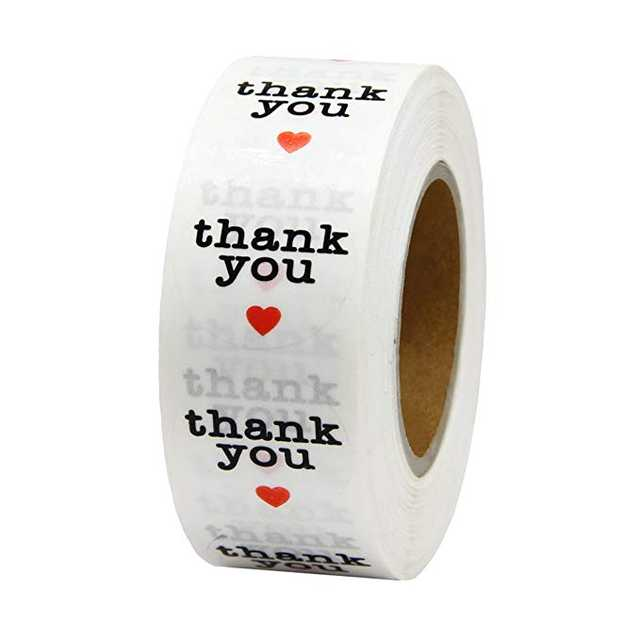 Roll Clear Round Thank You Sticker Seal