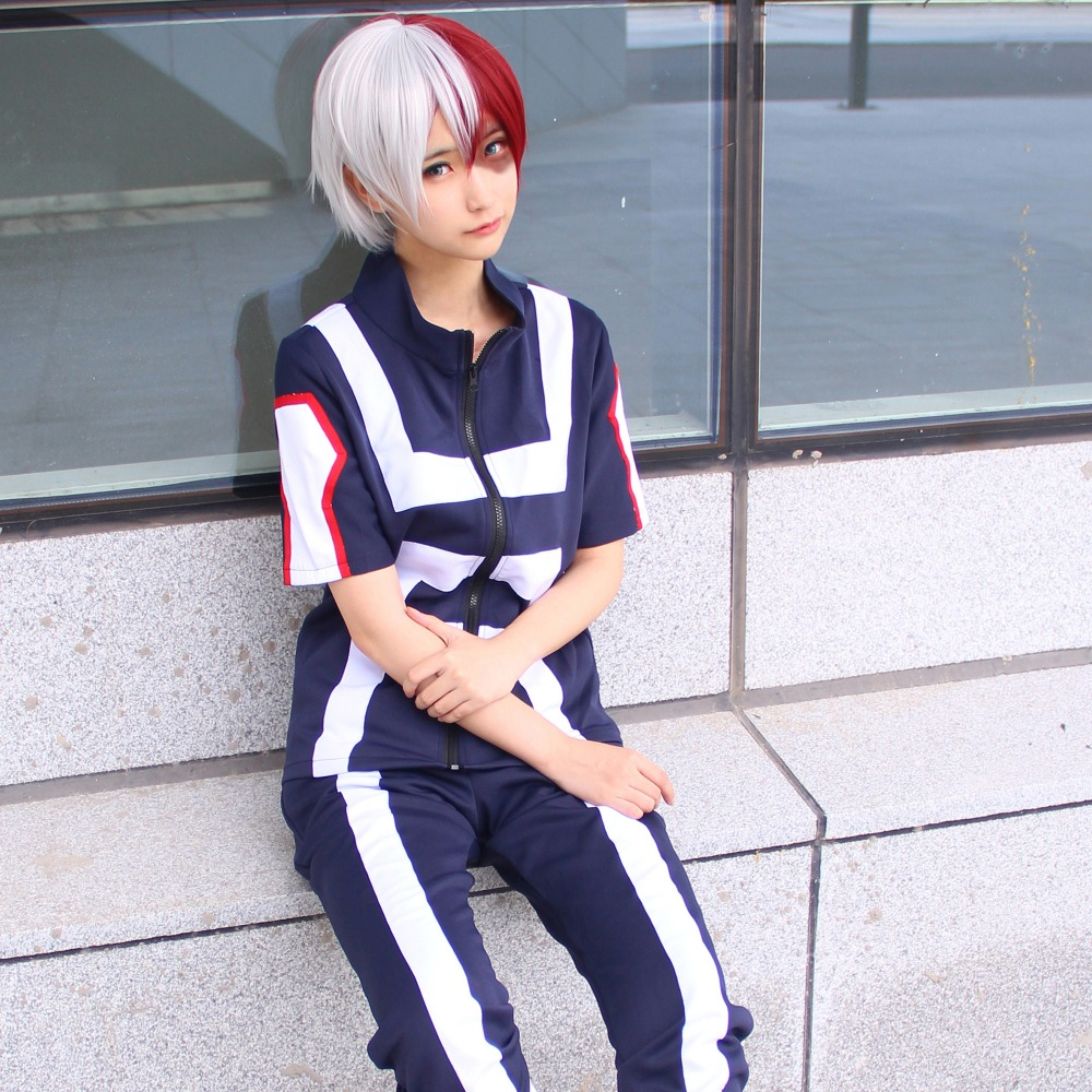 Image 5 - Anime Boku no Hero Bakugou Katsuki/Iida Tenya/Todoroki Shouto Cosplay Costume My Hero Academia Sportswear Tops+PantsAnime Costumes   -