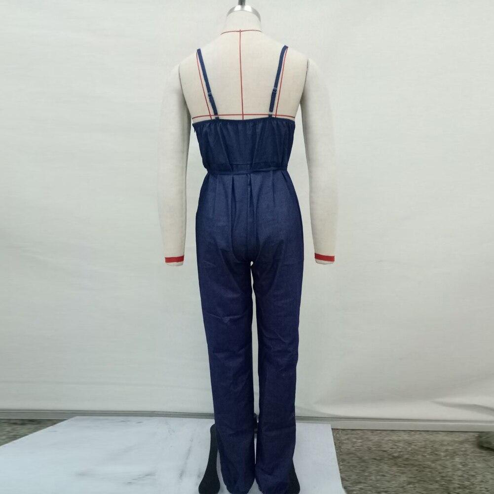 c3de3ea9cef8 3Xl Plus Size Women Rompers Denim Jumpsuit Deep V Neck Denim Overalls Women  Sexy Jumpsuits Backless Jeans Summer Jumpsuit -in Jumpsuits from Women s ...