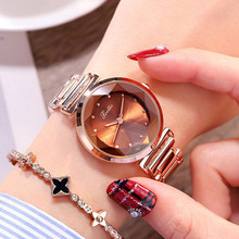 Top Brand Luxury Diamond Starry Star Dial Women Watches Lady Casual Quartz Watch Women Stainless Steel Dress Watch Clock reloj carnival brand quartz watch women classic retro roman numeral dial ultra thin full stainless steel casual lady clock new