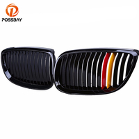 POSSBAY Car Gloss Black German Flag Kidney Car Grille Grill for BMW 3 Series E92 330xi/335d/325i/323i/316i Coupe M3 2007 2013