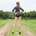 Women Lady Sexy Transparent Shorts Short Pants Low Waist Elastic Stretchy Nightclub