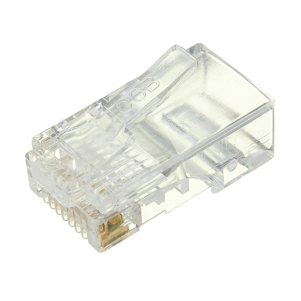 Wholesale  50PCS RJ45 RJ-45 CAT6 Modular Cable Head Plug Ethernet Gold Plated Network Connector Best Promotion