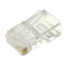 Wholesale 50PCS RJ45 RJ-45 CAT6 Modular Cable Head Plug Ethernet Gold Plated Network Connector Best Promotion(China)