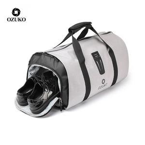 Image 2 - Ozuko男性旅行バッグ多機能大容量防水ダッフルバッグスーツ収納手荷物バッグ靴倉庫フィットネス