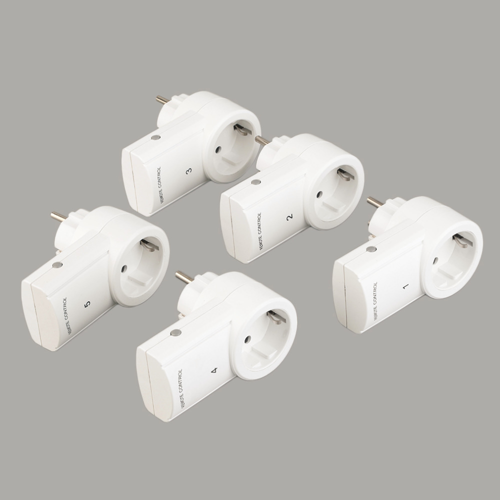 5 Wireless Remote Control Switches Mains Socket with Remote Control Electrical Plugs Adaptors Power Outlets EU Plug Hot Selling аккумулятор для ибп ventura gp 6 4 5 s