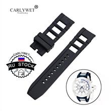 CARLYWET RU STOCK New Style Wholesale Men Women Black Strap High quality Silicone Rubber Wrist Watch Band Belt
