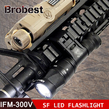Tactical Airsoft M300V SCOUT Light LED Flashlight Gun Weapon Light Outdoor Hunting Rifle Light remote pressure switch scout weapon light tail dual button outdoor hunting led flashlight peq 16a m3x accessories wne04040