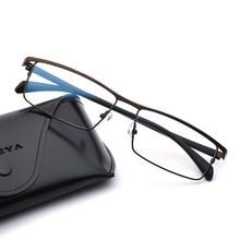 Metal Optical Eyewear Frames Men Brand Designer Clear Computer Myopia Prescription Eyeglasses Frame Business Style #001