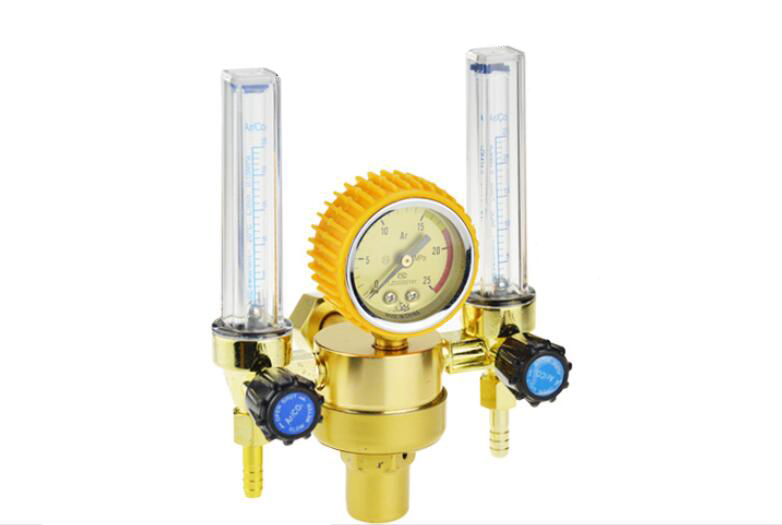 Double Meters Argon Regulator Welding Regulator Argon Gas Reduced Pressure Meter 25Mpa htp argon co2 mig tig flow meter control valve regulator reduced pressure gas flowmeter welding weld flowmeter