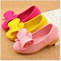 2016 Nuevo Color Del Caramelo Niños Zapatos de Alta Calidad de Las Muchachas de La Princesa Cabritos de La Manera del Diseñador Zapatos De Un Solo Resorte de la Nueva del cabrito zapatos