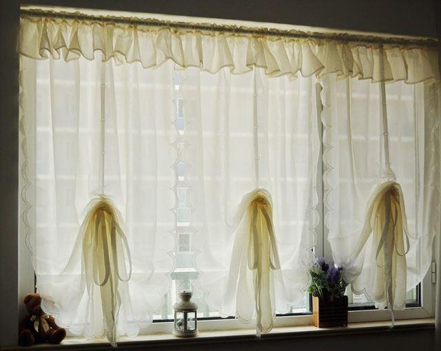 Online Shop Classico pastorale ruffle balza filato tulle tende per ...