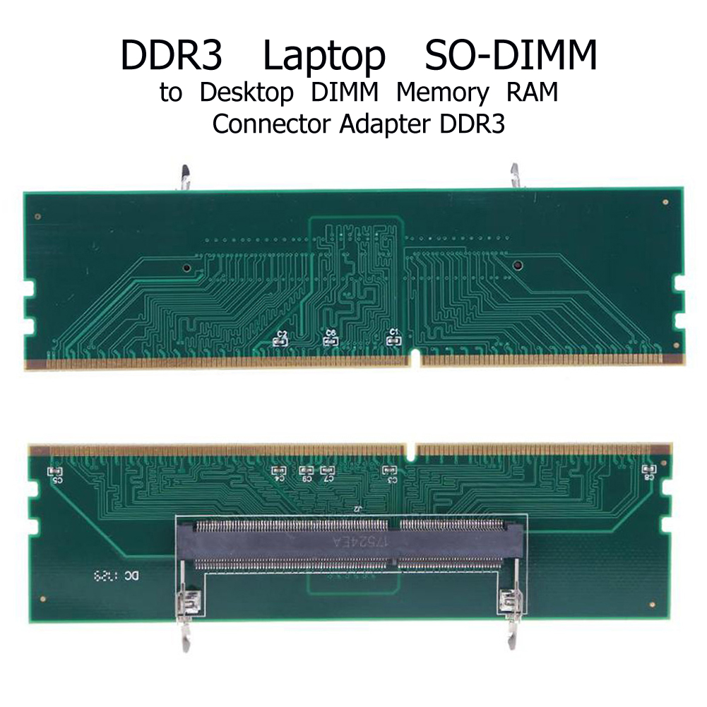 DDR3 Notebook Memory To Desktop Memory Connector Adapter Card 240 To 204P